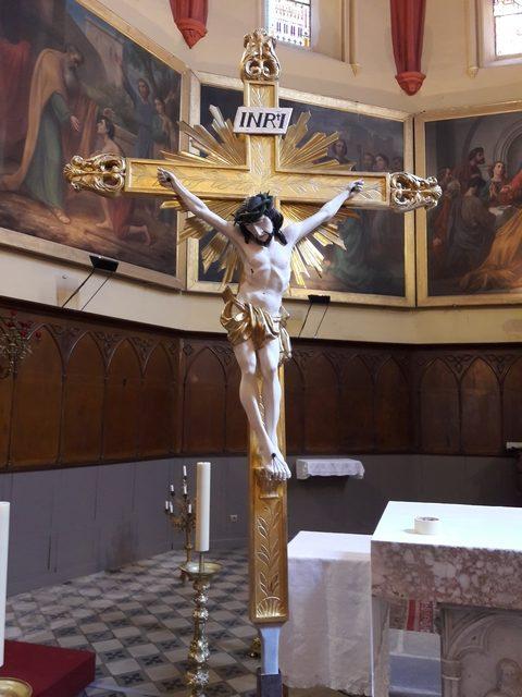 Croix de procession d'époque XIXe - commune de Hérépian